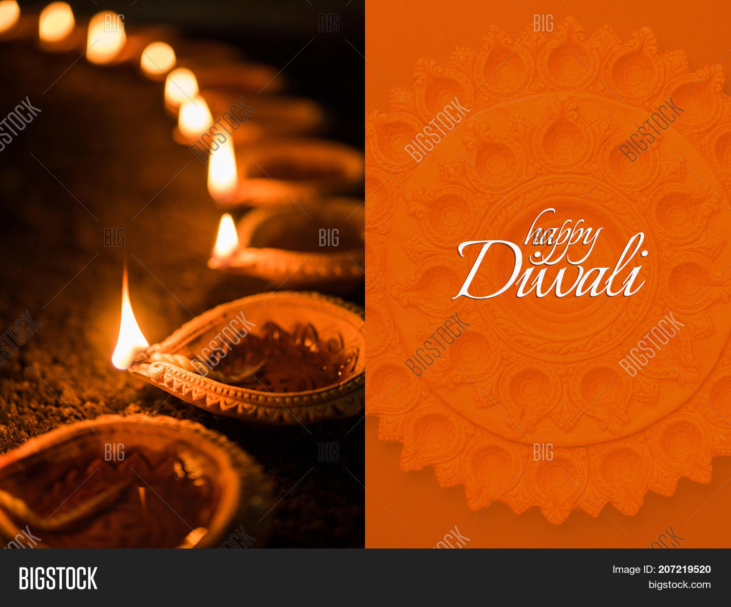 Happy Diwali Greeting Image Photo Free Trial Bigstock