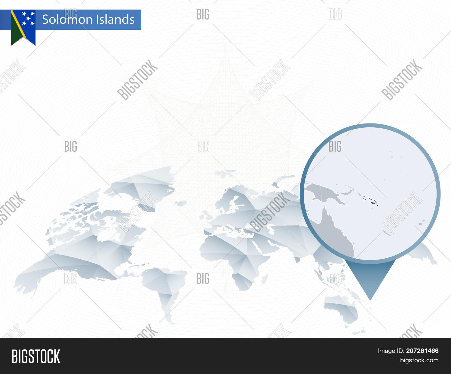 Solomon Islands World Map.Abstract Rounded Vector Photo Free Trial Bigstock
