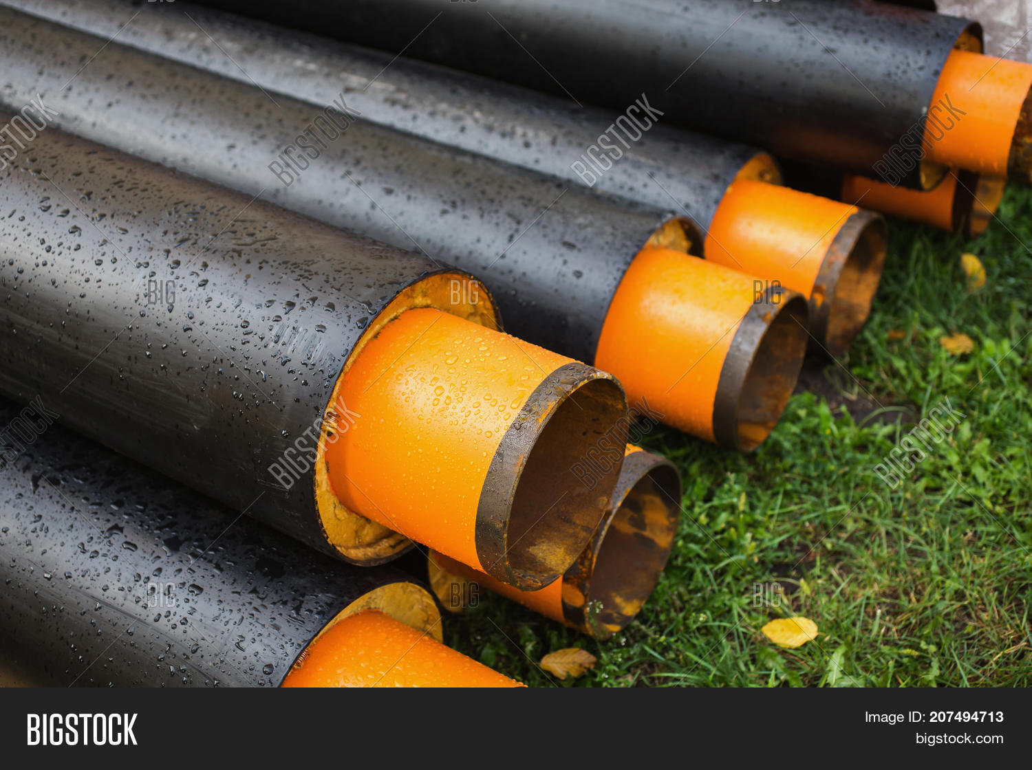 Water pipes with insulation lie on the grass. Pipe for water. New water pipe & Water Pipes Insulation Image u0026 Photo (Free Trial) | Bigstock