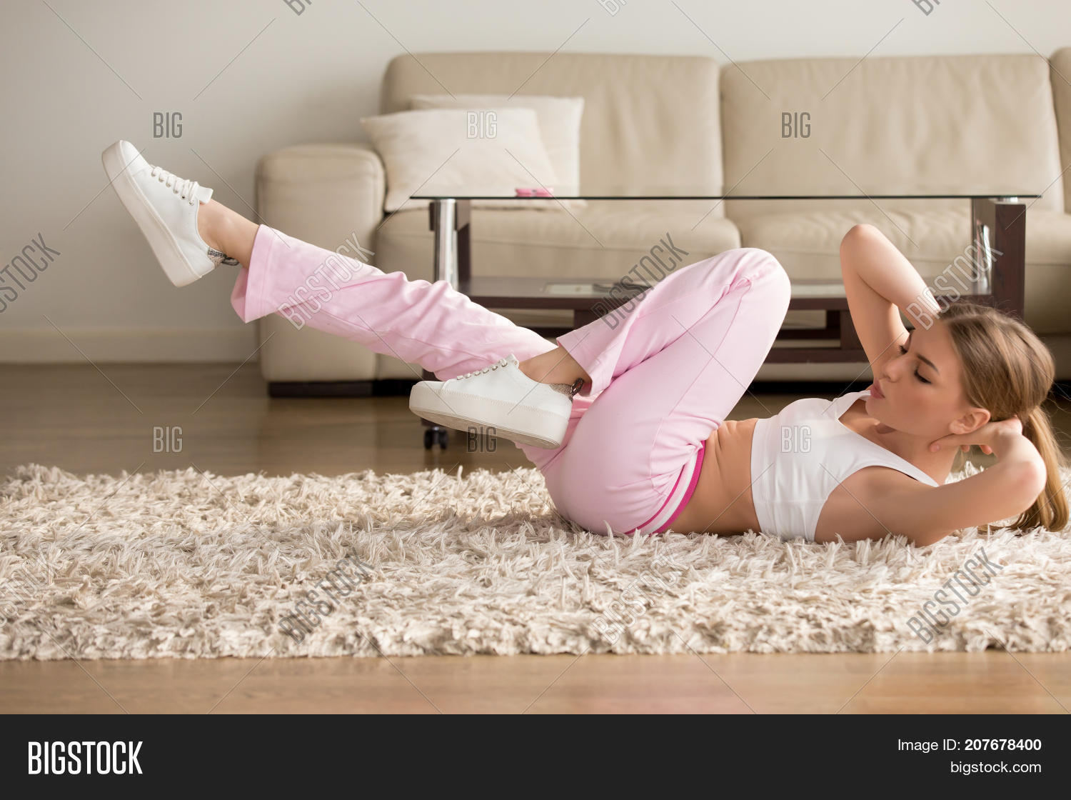 Young Fitness Girl Image Photo Free Trial Bigstock