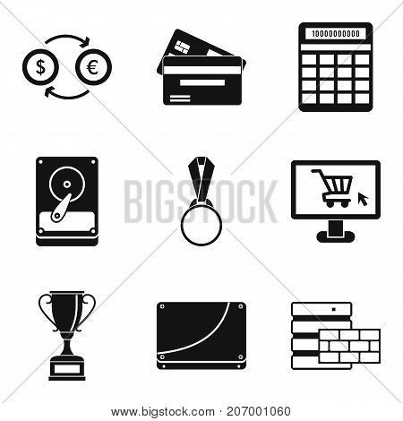 Rate icons set. Simple set of 9 rate vector icons for web isolated on white background