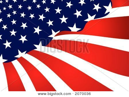 Fourth Of July Abstract Flag