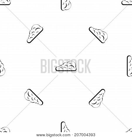 Cumulus cloud pattern repeat seamless in black color for any design. Vector geometric illustration