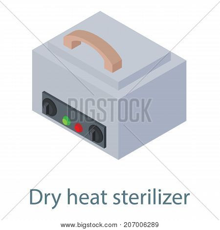 Dry heat icon. Isometric illustration of dry heat vector icon for web