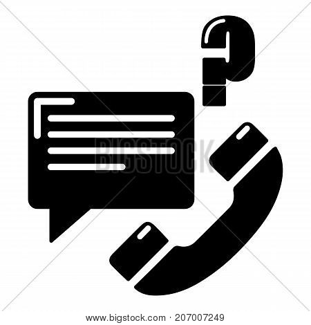 Telephone calls icon. Simple illustration of telephone calls vector icon for web