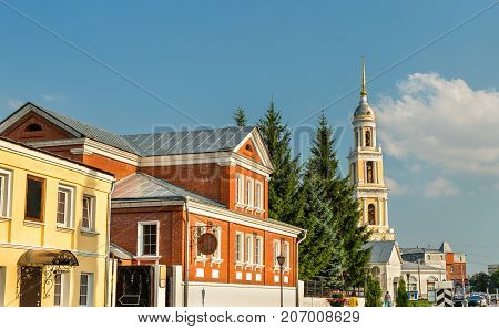 Traditional houses in the old town of Kolomna, Russia