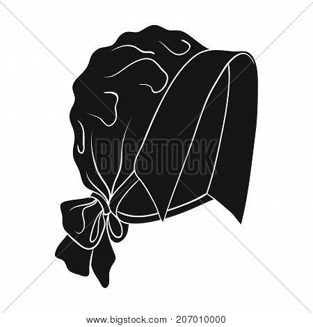 Headpiece, single icon in black style.Headpiece, vector symbol stock illustration .