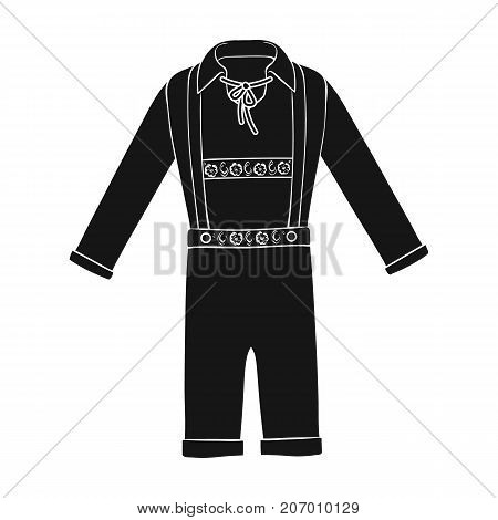 Suit single icon in black style.Suit, vector symbol stock illustration .