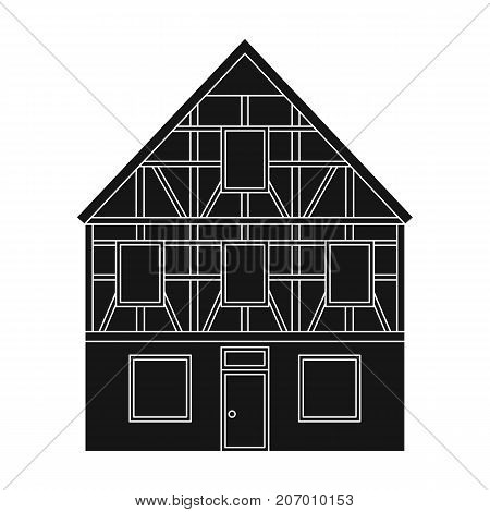 House single icon in black style.House vector symbol stock illustration .