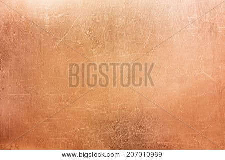 Vintage Bronze Texture, Background Of Old Metal Plate