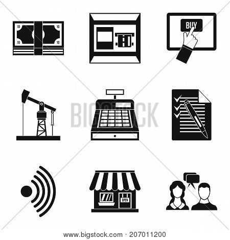 Own business icons set. Simple set of 9 own business vector icons for web isolated on white background