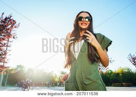 Happy smiling shine young girl,joy,enjoy life,freedom summer shine concept