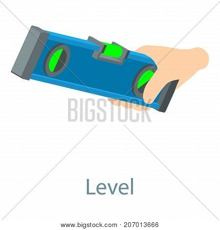 Level tool icon. Isometric illustration of level tool icon for web
