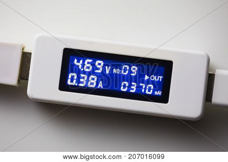 battery tester diagnostic tool, white background