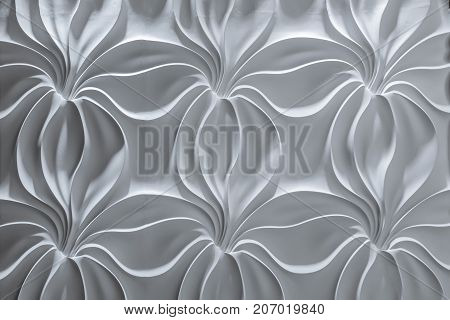 gorgeous mesmerizing beautiful view of interior stone wall luxury background, dark grey with light and shadows