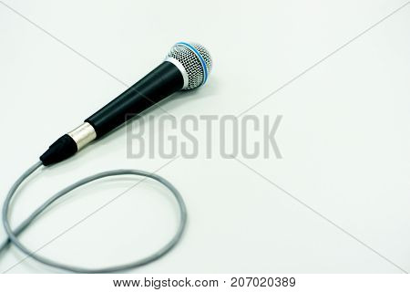 The Microphone on table in the room