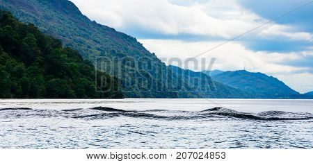 Multi-humped Monster-shaped Waves On Loch Ness, Scotland