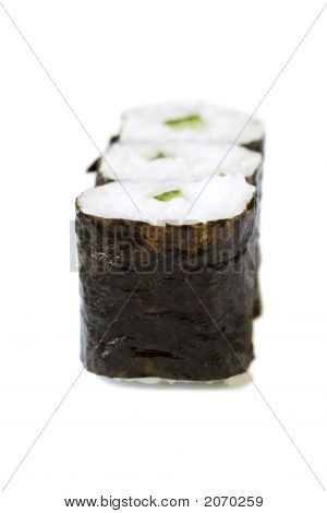 freshly prepared maki rolls a real treat for sushi lovers**Note slight blurriness, best at small sizes. poster