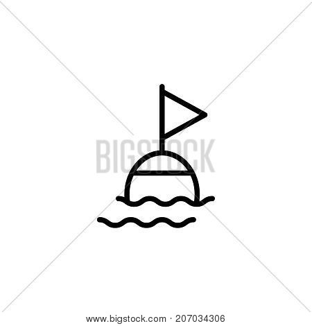 Buoy flat icon. Single high quality outline symbol of summer for web design or mobile app. Thin line signs of swiming for design logo, visit card, etc. Outline logo of diving