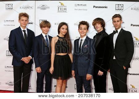 LOS ANGELES - SEP 30:  Harrison Wittmeyer,  Tanner Flood, Sophia Rose, Colin Critchley, Keidrich Sellati, Luke Guldan at the Catalina Film Festival at the Casino on September 30, 2017 in Avalon, CA