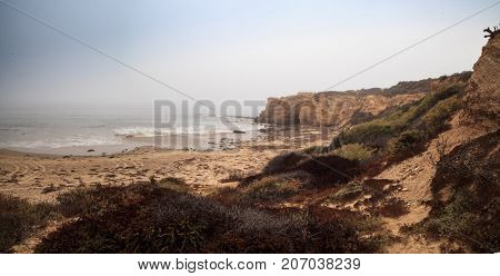 Fog Drifts In Over The Ocean At Crystal Cove State Beach