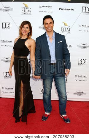 LOS ANGELES - SEP 30:  Erin Carere, Carlo Carere at the Catalina Film Festival - September 30 2017 at the Casino on Catalina Island on September 30, 2017 in Avalon, CA