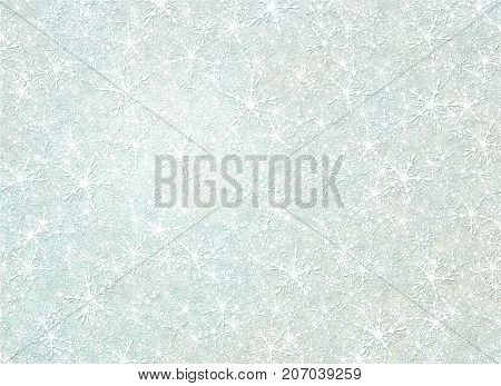 Digital illustration of hundreds of snow flakes filling the entire image with tan and light blue tinting.