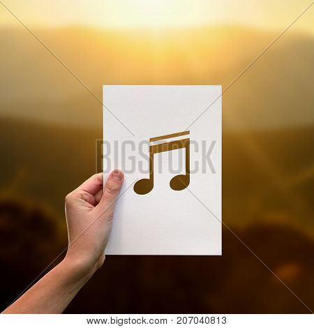 Sound Of Music Perforated Paper Musical Note