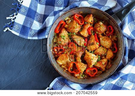 Chunks Of  Pork Fried With Onion