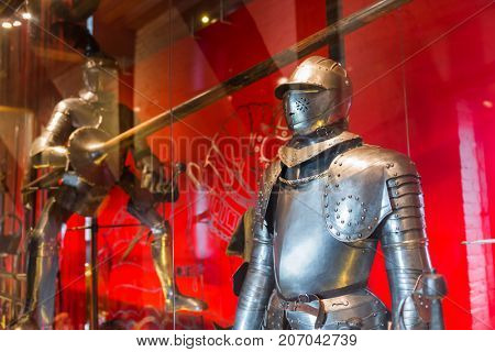 Knight in Muiderslot castle near Amsterdam - Netherlands - architecture background