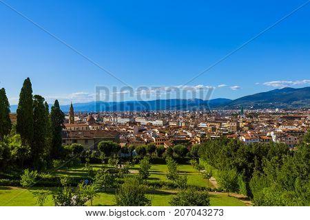 Giardino di Boboli in Florence Italy  travel background