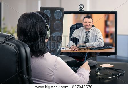 Businessman is very pleased his blood pressure is normalized with the help of telemedicine GP