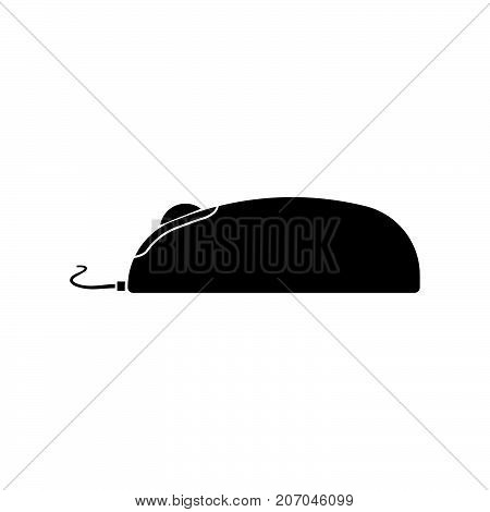 Computer Mouse Black Icon .