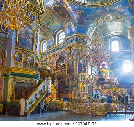 Panorama Of Prayer Hall Of Dormition Cathedral