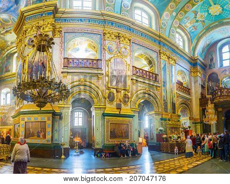 Panorama Of Interior Of Dormition Cathedral