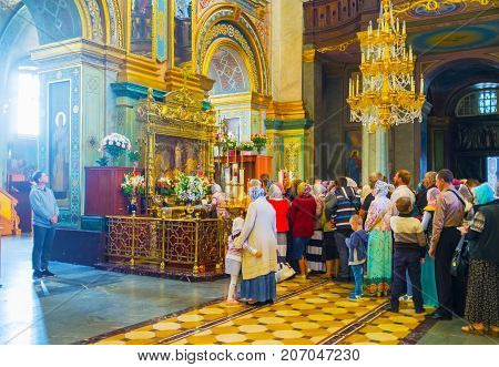 The Queue At The Shrine Of Pochaev Lavra