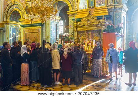 Parishioners On Dormition Cathedral