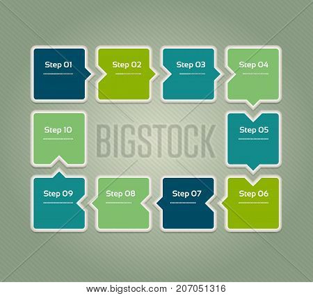 Vector progress background. Template for diagram graph presentation and chart. Business concept with 10 options parts steps or processes. Abstract background. eps 10