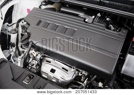 Eco Car Small Type Engine Clean New Closeup