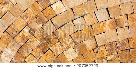 Decorative Cubic Stone Wall Background