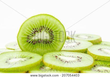 Kiwi Fruit Isolated on White Background (kiwis)