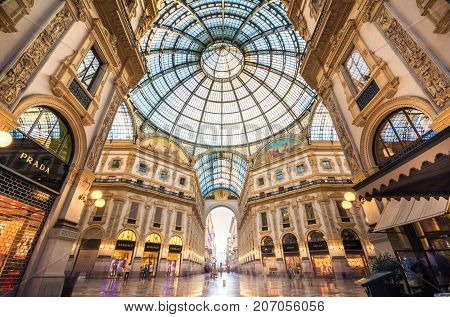Vittorio Emanuele II in Milano. It's one of the world's oldest shopping malls, designed and built by Giuseppe Mengoni between 1865 and 1877 on June 24, 2017
