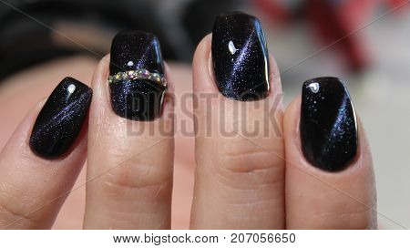 Manicure Gel With Cat Eye