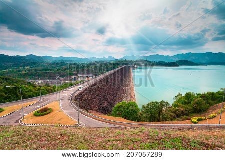 Ratchaprapa Dam or Chiao Lan reservoir , Suratthani Thailand