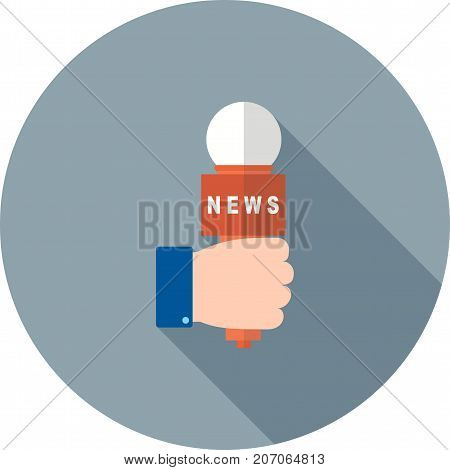 Interview, news, tv icon vector image. Can also be used for news and media. Suitable for web apps, mobile apps and print media.