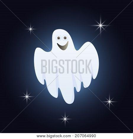 Cartoon Ghosts Silhouette
