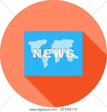 News, global, backdrop icon vector image. Can also be used for news and media. Suitable for mobile apps, web apps and print media.