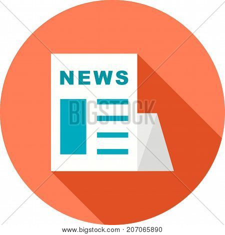 Newspaper, news, media icon vector image. Can also be used for news and media. Suitable for mobile apps, web apps and print media.