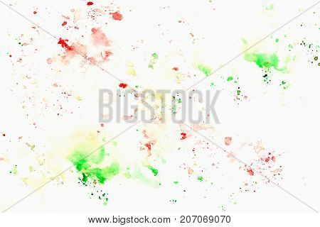 Rainbow cheerful light multicolored spots on white paper, spring shades. Hand draw illustration for modern design
