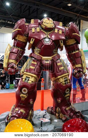 Bangkok, Thailand. - August 28, 2017 : HulkBuster or Hulk Buster, Marvel super heroes stand for promote movie at Bangkok, Thailand.